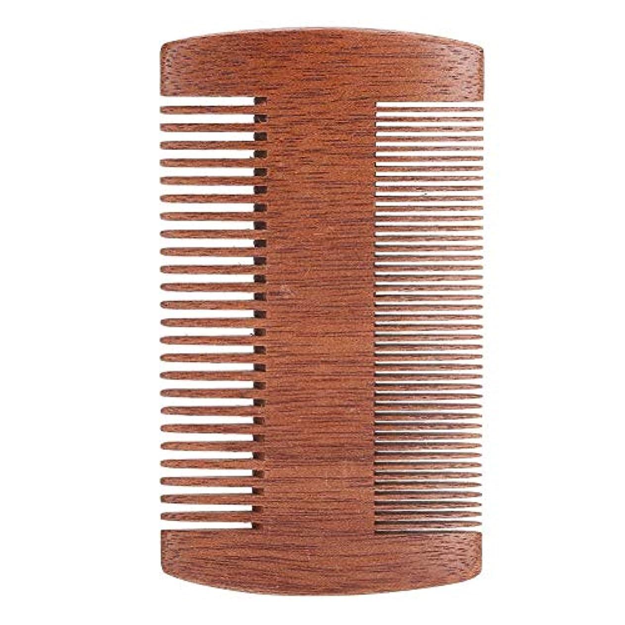 憂慮すべき基準ランタンサンダルウッド帯電防止口ひげスタイリングくしツール
