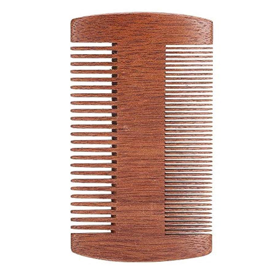 コック適格シャイサンダルウッド帯電防止口ひげスタイリングくしツール