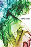 Sketchbook: Rainbow Smoke Sketchbook 6x9 Inches 100 Pages for Drawing, Doodling or Sketching Lovely Gift Idea for Kids