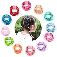 Elesa Miracleゴム120pcs Baby Hair Ties 1.8 MM Mix Colors Kidsヘアバンドホルダーヘッドバンド