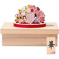 (ファンファン) ひな人形 収納 収納ケース 手作り コンパクト ミニ ちりめん ぷりてぃ舞桜花舞台 名入れ 撫子