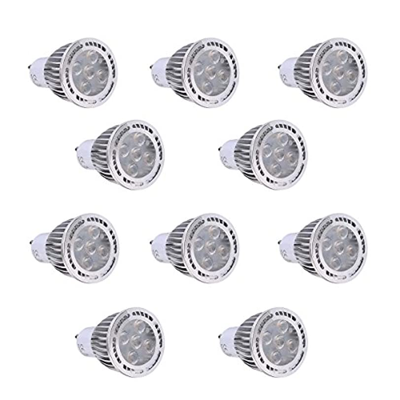 地殻若い掘るLED電球 GU10 5W SMD 3030SMD 400-500 LMワームホワイト/クールホワイト曇りLEDスポットライトAC 85-265V AC 220-240V AC 110-130V(10個) (色 : AC 220-240V, サイズ : 暖かい白)