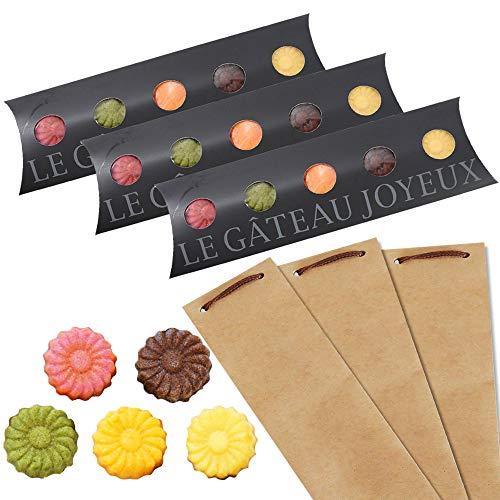 和歌山フィナンシェ5個入(5種のお味)ショコラ、みかん、ゆず、イチゴ、抹茶が香る上品な焼き菓子 プチギフト対応 スタイリッシュな黒箱入! (3箱クラフト袋小)