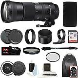 Sigma 150–600mm 5–6.3DG OS HSM Contemporaryレンズfor Canon DSLRカメラ745101W/USB Dock + 32GB SDカードHolidayバンドル