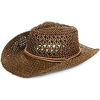 Straw Hat Women Men Cowboy Hat Beach Floppy Sun Hat Brim Summer Sunhat Bush Hat