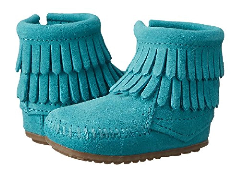 (ミネトンカ) MINNETONKA ベビーブーツ?靴 Double Fringe Side Zip Bootie (Infant/Toddler) Turquoise 4 Toddler (12cm) M