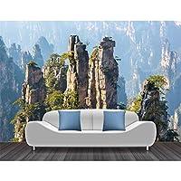 Ljjlm 山の風景写真の壁紙壁画リビングルームの寝室3D家の装飾自己接着シルクの壁紙-120X100Cm