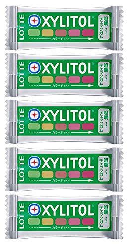 キシリトール 咀嚼チェックガム ミックスフルーツ味 ×5枚