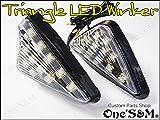 C-2-7 クリアVer 三角Type LEDウインカー 2個Set GPZ400R GPZ600R ZXR750 ZXR250 ZXR400 ZX9R ZX6R RVF400 VFR400R CBR400RR NSR250R GSXR750 GSXR1100 FZ400R TZR125 TZR250 FZR400RR