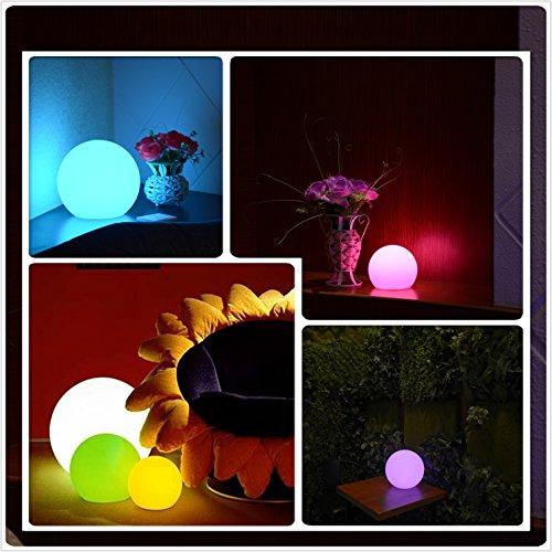 屋外 RGB 調光機能付き 8 LED 電球 リモコン付き、充電式、ムードランプ、防水,ランプ、フローティング LED プールライト、ガーデンライト