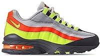 ナイキ キッズ スニーカー Nike Air Max 95 Casual Shoes GS シューズ Vast Grey/Volt/Gunsmoke/Total Orange_22.5 [並行輸入品]