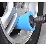 shenyuhuayang ポリッシング スポンジ 洗車 研磨 ポリッシャー 洗車用 車カー汎用 軸付き 円錐型 硬さT60 …,ブルー
