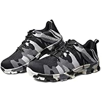 SuSip Men Indestructible Bulletproof Safety Shoes Military Work Lightweight Sneakers Lightweight Work Shoes