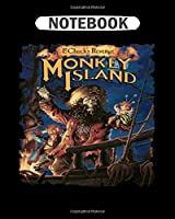 Notebook: monkey island   College Ruled - 50 sheets, 100 pages - 8 x 10 inches