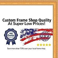 12x 16従来ゴールド木製写真フレーム–UVアクリル、フォームボードBacking、& Hangingハードウェア付属。