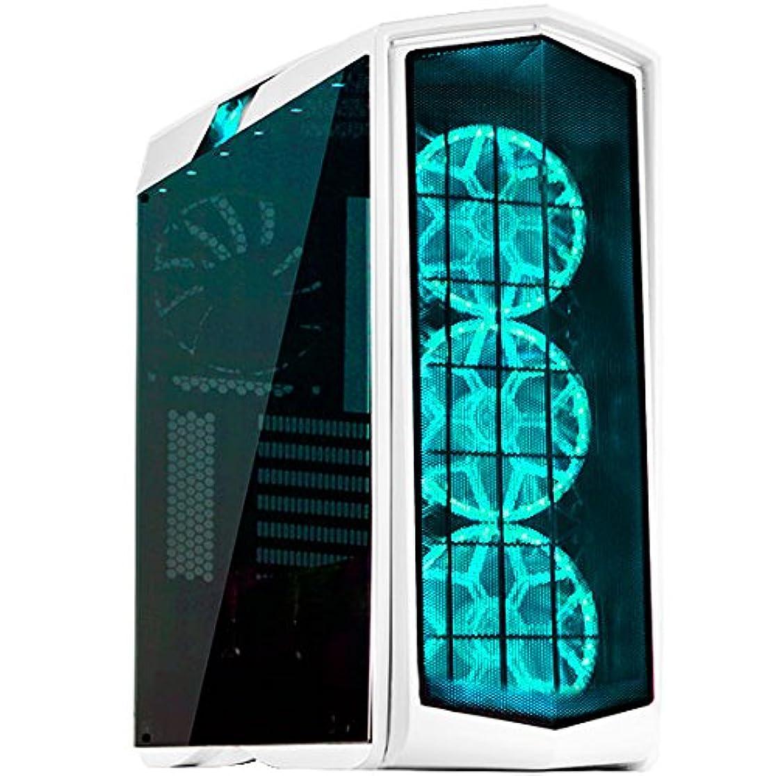 染料電子レンジポイントSilverStone PRIMERAシリーズ 内蔵140mm RGB LEDファンガード付属 SST-PM01W-RGB(ホワイトボディー、RGB LED +強化ガラス製ウィンドウ)