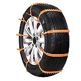 Sanato 非金属タイヤチェーン 簡易型 使い捨て 簡単取り付け サイズ調節可能 145mm-295mmまでタイヤに対応 ジャッキアップ不要 10本入