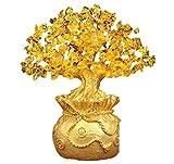 OBOLO 金運置物 金のなる木 黄水晶 シトリン 幸運の木 金運 置物セット