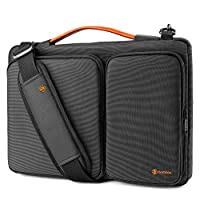 tomtoc 360 Protective Laptop Shoulder Bag for 16-inch New MacBook Pro 2019, 15 Inch Old MacBook Pro Retina, Dell XPS 15, 15 Inch Microsoft Surface Book 2, The New Razer Blade 15, Water-resistant
