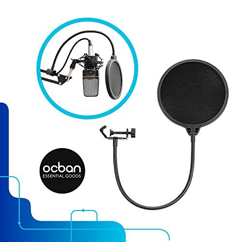 Voice Recording Clamp Professional Microphone Mic Wind Screen Studio Accessories Utility Great Quality Pop Filter Singing Easy Use Essential Record Tool Singer S B P Great Price Ocban [並行輸入品]