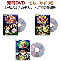 ひらがなあ~ん・カタカナカンタン!・かず1ばん!DVD3巻セット 秀逸ビデオシリーズ