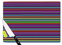 "KESS InHouse TK1046ACB01 Trebam""Kolor"" Multicolor Stripes Cutting Board, 11.5 x 8.25"", Multi [並行輸入品]"