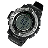 PRO TREK CASIO カシオ プロトレック メンズ 腕時計 トリプルセンサーVer.3 電波ソーラー PRW-3500-1DR シルバー×ブラック 海外モデル 並行輸入品 [並行輸入品]