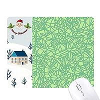 緑のパターンの線の抽象インタレース サンタクロース家屋ゴムのマウスパッド