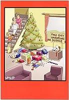 ギフトUnwrappingサービスクリスマスJoke用紙カード 1 Christmas Card & Envelope (SKU:1677)