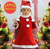 定番! サンタクロース コスチューム バッジ オリジナルセット/サンタ クロース コスプレ 衣装/クリスマス イベント 仮装 (女児 中サイズ)