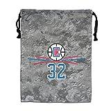 アメリカ バスケットボール選手 スポーツ 巾着袋 収納袋 マルチバッグ シューズケース バッグ White