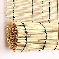リードカーテン、装飾的な竹製ローラーブラインド、レトロ/防水/日よけ、屋外パーティションプライバシーシャッター、(幅100X高さ120mm)をカスタマイズ可能
