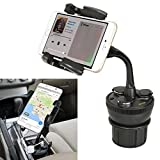 【セット品】汎用車種対応 スマホスタンド3点セット(スマホホルダー、USBポート、シガーソケット)