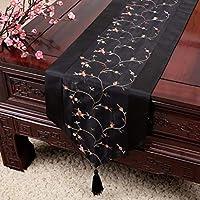 テーブルランナー古典的なミニマリストスタイルの手は熟練した職人によって作ら刺繍テーブルランナーは、居間に適してキッチンの宴会家の装飾(複数のサイズ),A_13*71in