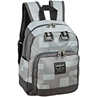 JINX Minecraft 12 Miner Kids Mini Backpack - Grey