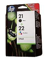 HP 21 & 22 Original Ink Cartridges (Black, Tri-color, 2-Pack) in Retail Packaging [並行輸入品]