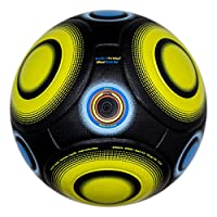 (5, (Black / Yellow) - Knuckle-It Pro Yellow) - Soccer Ball Size 5 Official - Knuckle-It Pro Match Ball