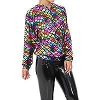 DIGITAL SPOT Mermaid Rainbow Fish Scale Metallic Long Sleeves Fancy Wear Party Bomber Jacket
