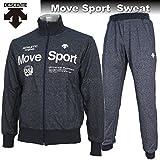 DESCENTE デサント ジャージ Move Sport スウェット ジャケット パンツ 上下 DAT2653 DAT2652P NVM ネイビー杢 (O)