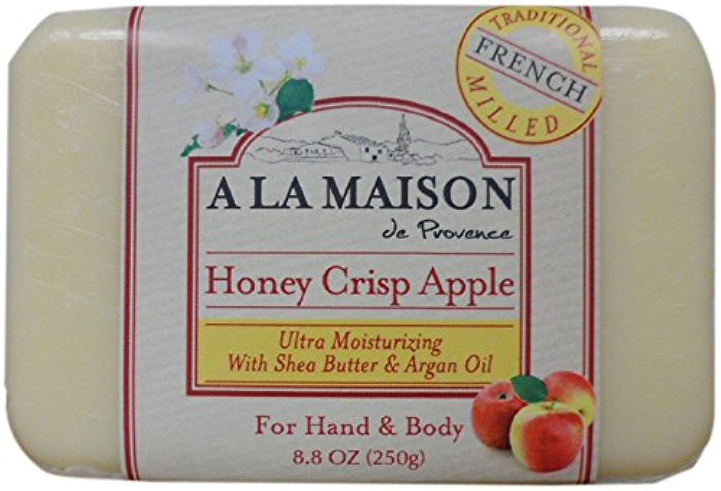 割れ目競合他社選手郵便屋さん海外直送品A La Maison Bar Soap Honey Crisp Apple, Honey Crisp Apple 8.8 oz