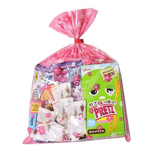 花柄袋 400円 お菓子 チョコレート 詰め合わせ(Cセット) 駄菓子 袋詰め おかしのマーチ