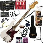 Squier エレキベース 初心者 入門 王道のプレシジョンベース VOX Pathfinder BASS10とVOXのマルチエフェクターが入ってる完璧21点セット Classic Vibe '60s Precision Bass/OWT(オリンピックホワイト)