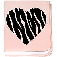 CafePress – Love Zebra – スーパーソフトベビー毛布、新生児おくるみ ピンク 06605456516832E