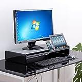 サンワダイレクト 液晶モニター台 キーボード収納 iPad&タブレットPC用スタンド付 W65cm 机上ラック 100-MR066