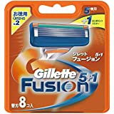 ジレット フュージョン5+1 マニュアル 髭剃り 替刃 8コ入