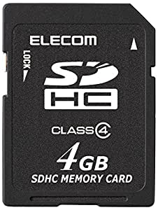 エレコム SDHCカード 4GB Class4 NINTENDO 3DS動作確認済み MF-HCSD04GC4