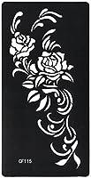 THE FANTASY ステンシルシート [3枚セット] シール ヘナタトゥー グリッタータトゥー 用 薔薇 cf115