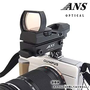 ANS Optical JH400タイプ オープンドットサイト カメラマウントセット カメラ用照準器 ドットファインダー ホットシュー対応