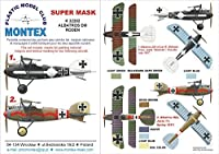 Montexスーパーマスク1: 32Albatros D III for RodenキットSpraying Stencil # 2# k32202