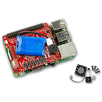 UPS PIco HV3.0A Stack Assembled - 無停電電源装置 & 開発ツール for Raspberry Pi 3 - 450mAhバッテリ付き - 組み立て済み - ファン キット付属